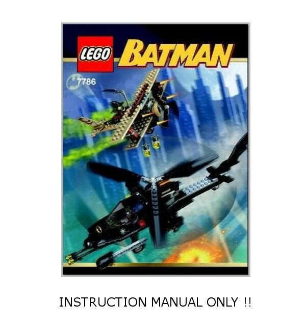 (Instructions) for LEGO 7786 - Batcopter The Chase for the Scarecrow MANUAL ONLY