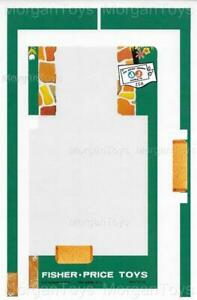 Fisher-Price-Little-People-952-House-Base-Driveway-Play-Family-Lithos-Stickers