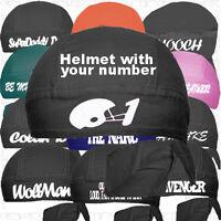 Football Business School Head Doo Rag Du Skull Cap Gift Do Custom Hat Family