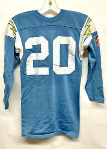 Vtg 70s Rawlings San Diego Chargers Mike Garrett Durene youth football jersey S