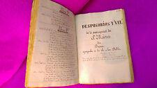 MANUSCRITOS HISTORIA DE LAS PARROQUIAS DE BAEZA, 2 VOL, 1400P, 1564-1885 VV. AA.