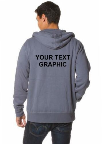 Your Text Customized Mens Zipper Hooded Sweatshirt Hoodie Solid Plain Pockets