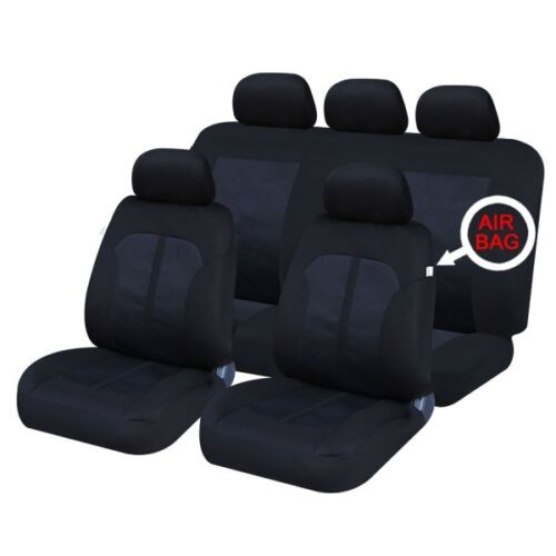 BMW X3 11on FRONT /& REAR CAR FULL SET SEAT COVERS CLOTH BLACK