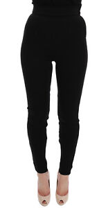 NEW-660-DOLCE-amp-GABBANA-Pants-Tights-Black-High-Waist-Stretch-IT38-US4-S