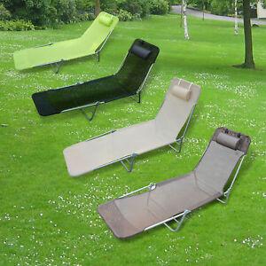 Creme Outsunny Sonnenliege Gartenliege Relaxliege B/äderliege Zweibeinliege 4 Farben