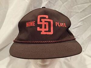 vintage San Diego Padres Hat Baseball Cap Home Plate adjustable ... 3cc41d9de3f