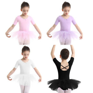 Toddler Baby Girls Gymnastics Ballet Dress Leotard Tutu Skirt Dance Wear Costume