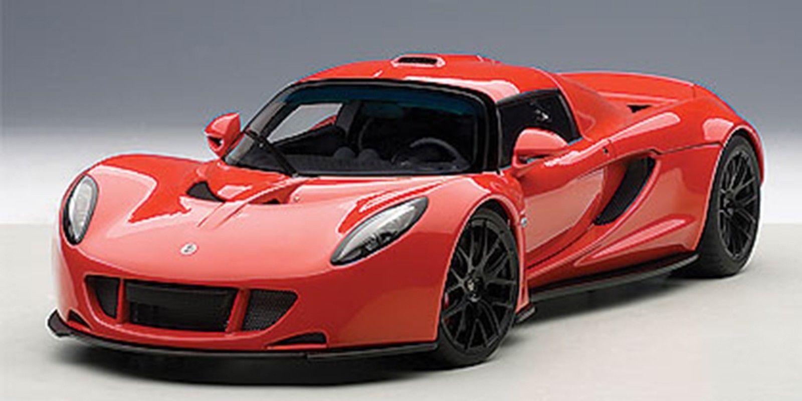 AUTOART HENNESSEY VENOM GT SPYDER rosso 1:18* Nuovo Very Nice