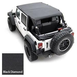 2010 2016 jeep wrangler unlimited safari extended bikini top black ebay. Black Bedroom Furniture Sets. Home Design Ideas