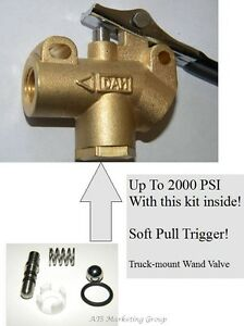 "Carpet Cleaning 1/4"" Brass Truckmount Wand angle valve HIGH PRESSURE"