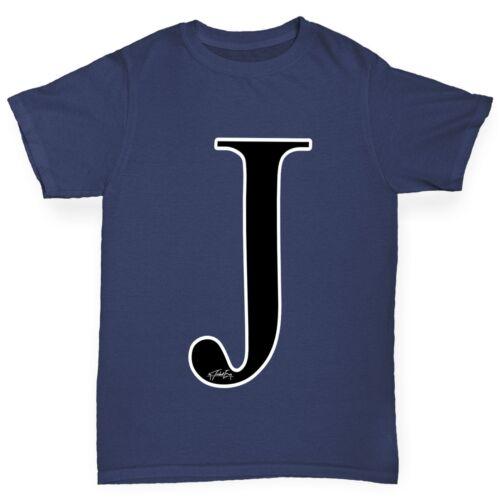 Twisted Envy Boy/'s Alphabet Monogram Letter J T-Shirt