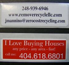 Printed Labels 500 Custom 1 X 3 Rectangle Business Stickers 1 Color Ink Rolls