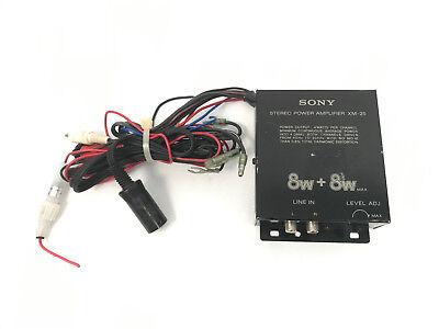 vintage sony xm 25 car stereo power amplifier 8w 8w per channel ebay. Black Bedroom Furniture Sets. Home Design Ideas