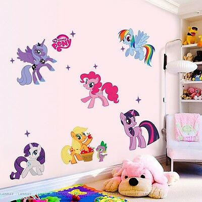 Cartoon Kids Room Art PVC Quote Wall Stickers Wall Decals Mural Wallpaper horse
