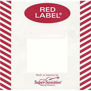 Red Label Violin String Set 4/4 Medium --Wound E Ball end