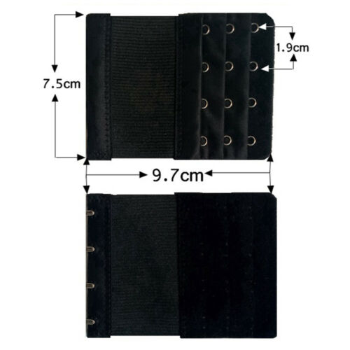 5 un Extensión Extensor de Sujetador Elástico 4 Ganchos clip en correa hebilla de banda Sujetador Suave