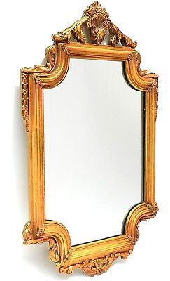 Gold Gilt Colonial Wall Mirror Vintage