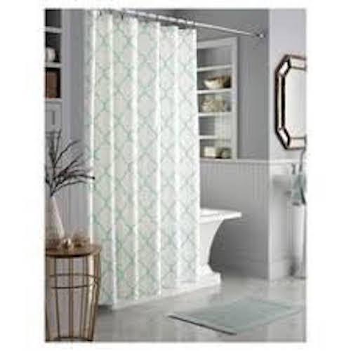 Threshold Mint Trellis Shower Curtain 72  x 72  - Brand New Sealed