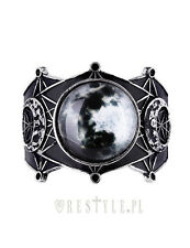 Restyle Moon Geometry Luna Gothic Punk Crescent Matte Black Jewelry Bracelet