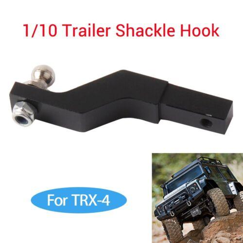 Tow 1//10 Trailer Shackle Hook Receiver RC Car Aluminum Alloy For TRX-4 Crawler