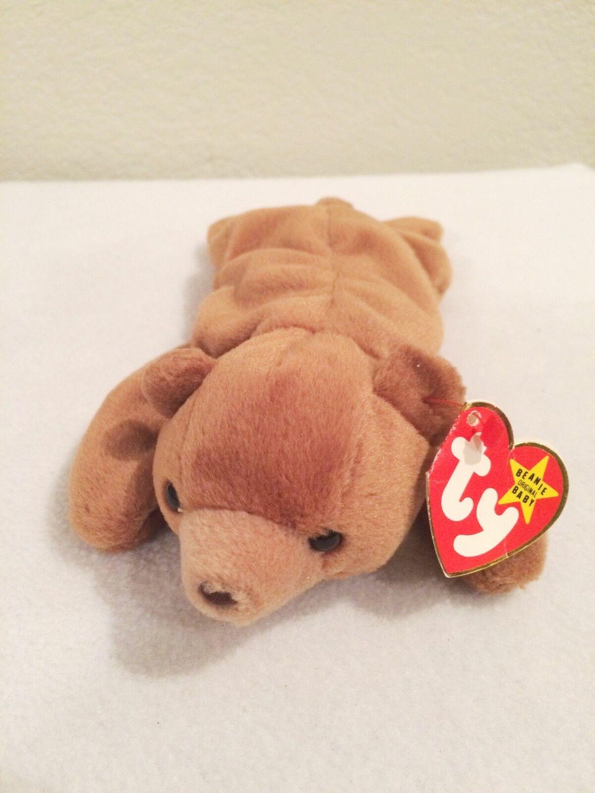 Cubbie Bear TY original beanie baby RETIRED Errors misprints  1993 Rare