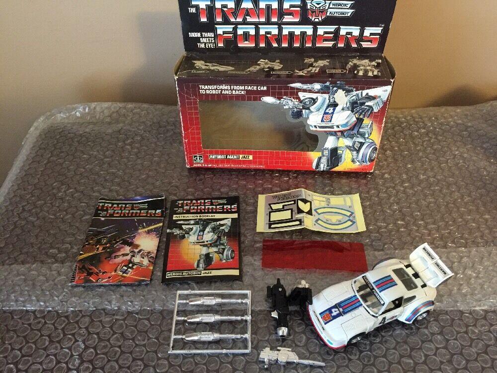 calidad garantizada Vintage Hasbro 1984 Transformers Transformers Transformers G1 Jazz 100% completos de lectura rojoo Top  ahorre 60% de descuento