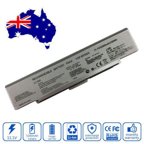 Battery for Sony Vaio VGNCR520DP VGNCR520DR VGNCR520DT Laptop 5200mAh