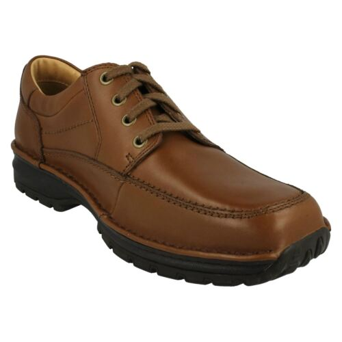 Mens Clarks CJ Brown Leather shoes SCAHILL PATH H Fitting MR