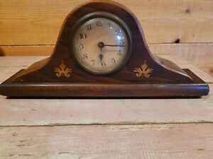 Vintage Mantel Clock Unknow Name Untested As Is Parts Only                  A9