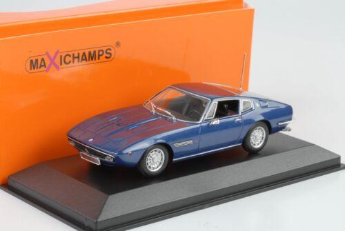 1969 MASERATI GHIBLI COUPE BLU METALLIZZATO 1:43 MAXI Champs Diecast Minichamps