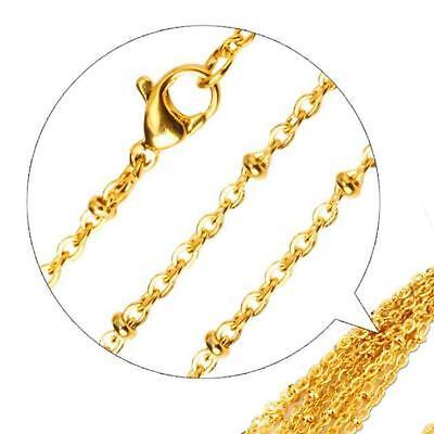 Erbskette 2 mm 999er Gold 24 Karat vergoldet Damen Herren gelbgold K2864L