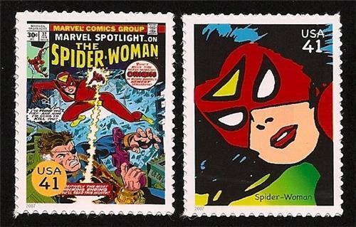 Marvel Spotlight #32 Spider-Woman Jessica Drew The Avengers Superhero US Stamps