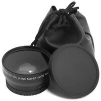 2in1 52mm 0.45X Wide Angle +Macro Conversion Lens Kit for Nikon DSLR Camera LF36