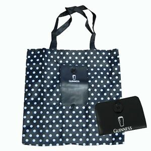 Guinness-Black-White-Spot-Fold-Up-Shopper-Bag