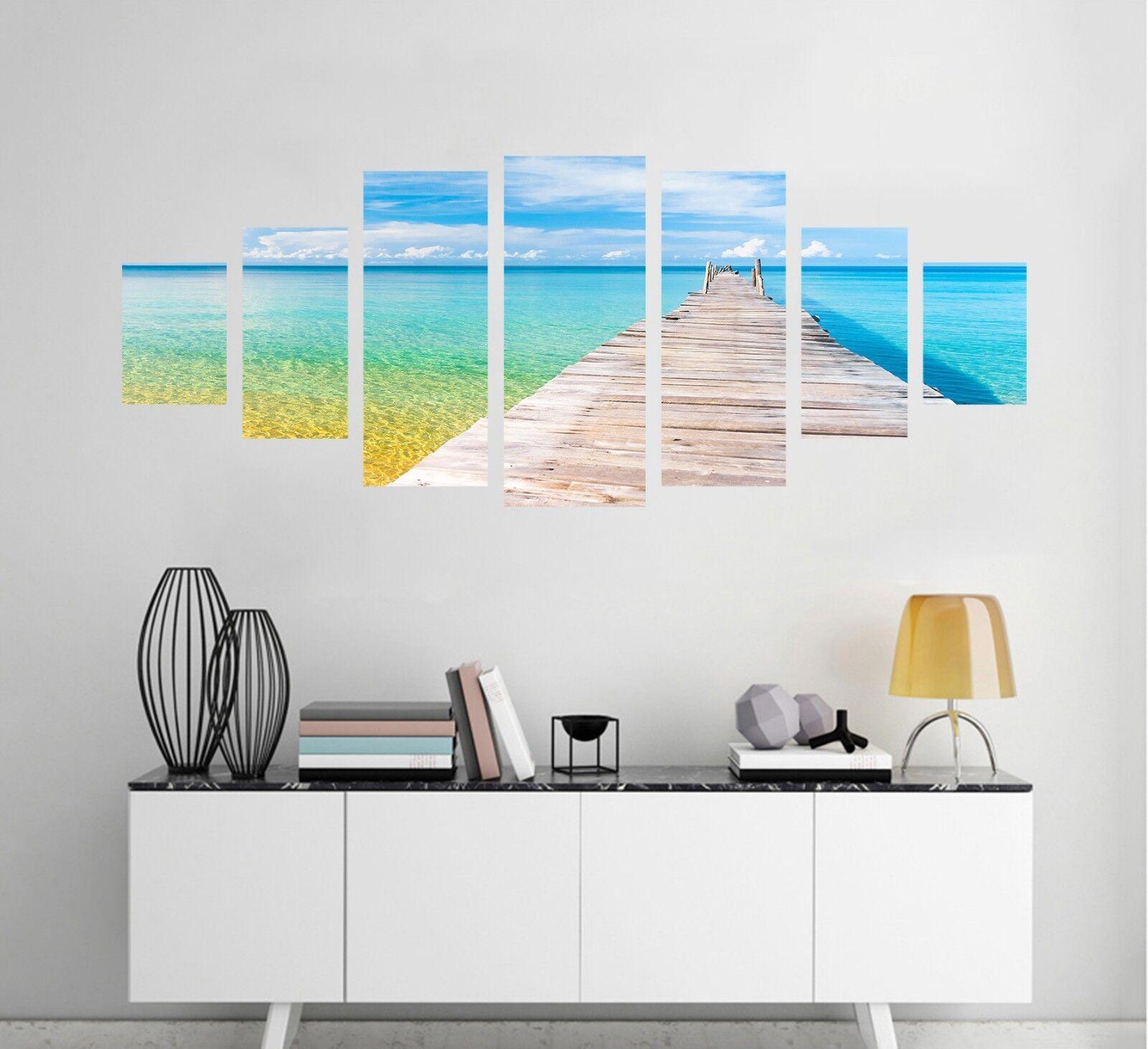 3D Board Bridge Sea 128 Unframed Print Wall Paper Deco Indoor AJ Summer