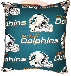 Dolphins-Pillow-NFL-Pillow-Miami-Dolphins-Pillow-Football-Pillow-HANDMADE-In-USA