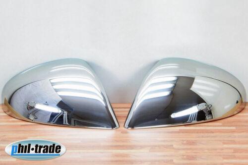 1 Set en Acier Inoxydable Miroir Capuchons v2a Chrome Pour VW Touareg II à partir de 04.2010-2014 7p5