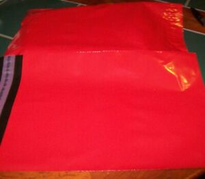 250-x-Red-Plastic-Poly-Mailing-Bags-Envelopes