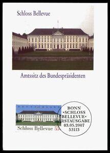 BUND-MK-2007-SCHLOSS-BELLEVUE-PRIVATE-MAXIMUMKARTE-MAXIMUM-CARD-MC-CM-by98