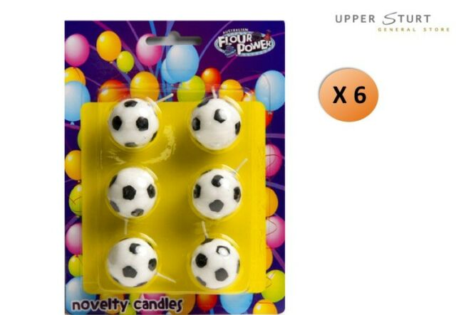 Soccer Ball Candles 6 Pack Birthday Party Supplies