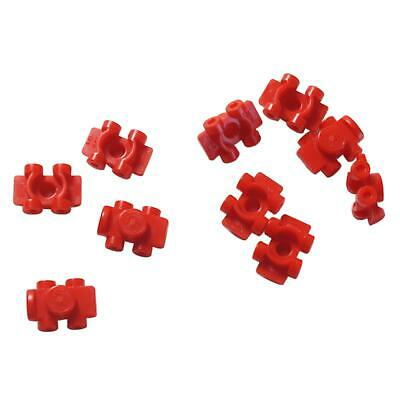 Lego New 10 White Minifigure Footgear Roller Skate Pieces