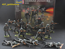 Matchbox/Revell/Airfix WW2 1/32 German  infantry  54mm. professionally painted.