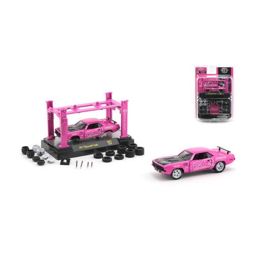 M2 machines 37000-r31-20-08 Plymouth Cuda Pink escala 1:64 maqueta de coche nuevo °