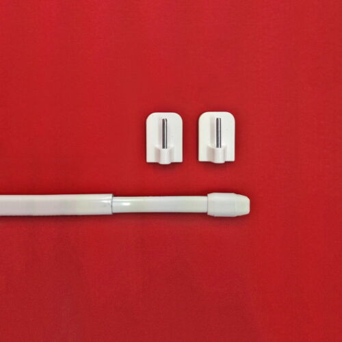 Klebehaken weiß 1 Stück Bistrostange Breite 40-60 cm inkl