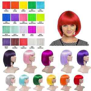 Details about COLOURED BOB SHORT STRAIGHT
