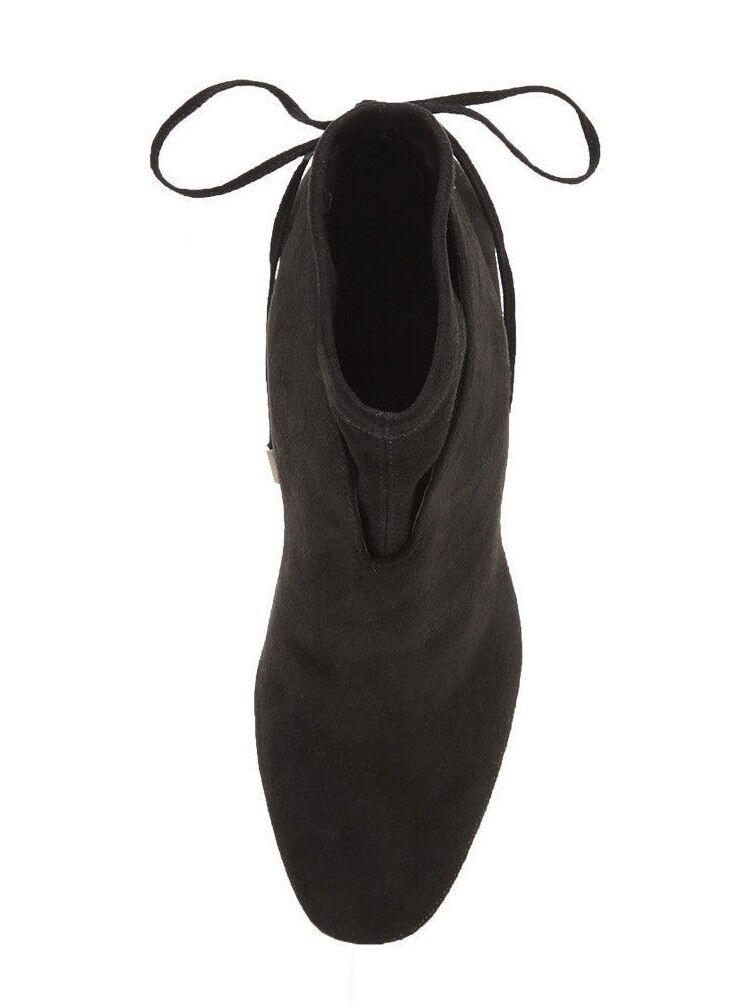 Kendall & Kylie Zola Gamuza Real Cuero Real Gamuza Negro botas al Tobillo Tacón Alto Talla 8 0c677a