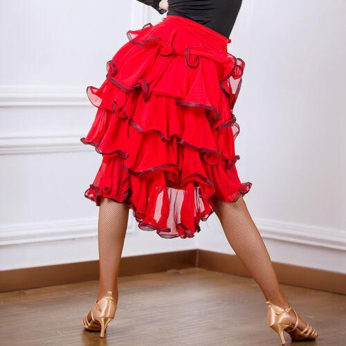 Latin salsa tango rumba Cha cha Square Ballroom Dance Dress#G204 Skirt 2 Colors