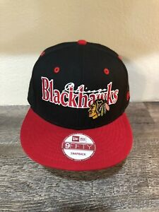 Chicago-Blackhawks-Hat-NHL-New-Era-9Fifty-Snapback-Style-New-Vintage-Cap-NICE
