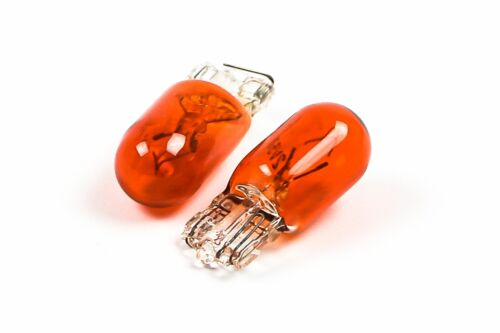 WY5W Bulb Set of 10 501 Amber 501A 12v 5w Push Fit Side Indicator Repeater