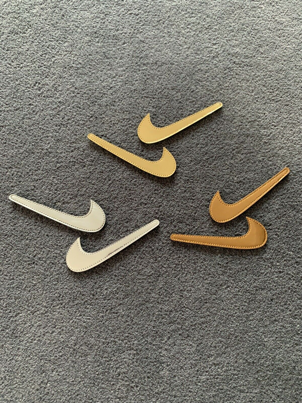 RARE Nike Air Force 1 Interchangeable Swooshes/Swoosh Gold silver Bronze